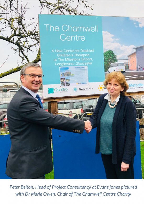 Evans Jones announces The Chamwell Centre as its Charity of the Year