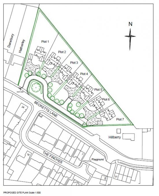 Permission granted for seven residential dwellings